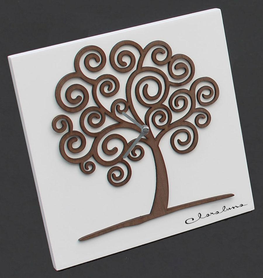 Bomboniere Matrimonio In Legno : Orologio in legno con albero di cristofalo regali e