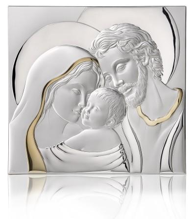 Capezzale sacra famiglia in argento di for Sacra famiglia quadri moderni