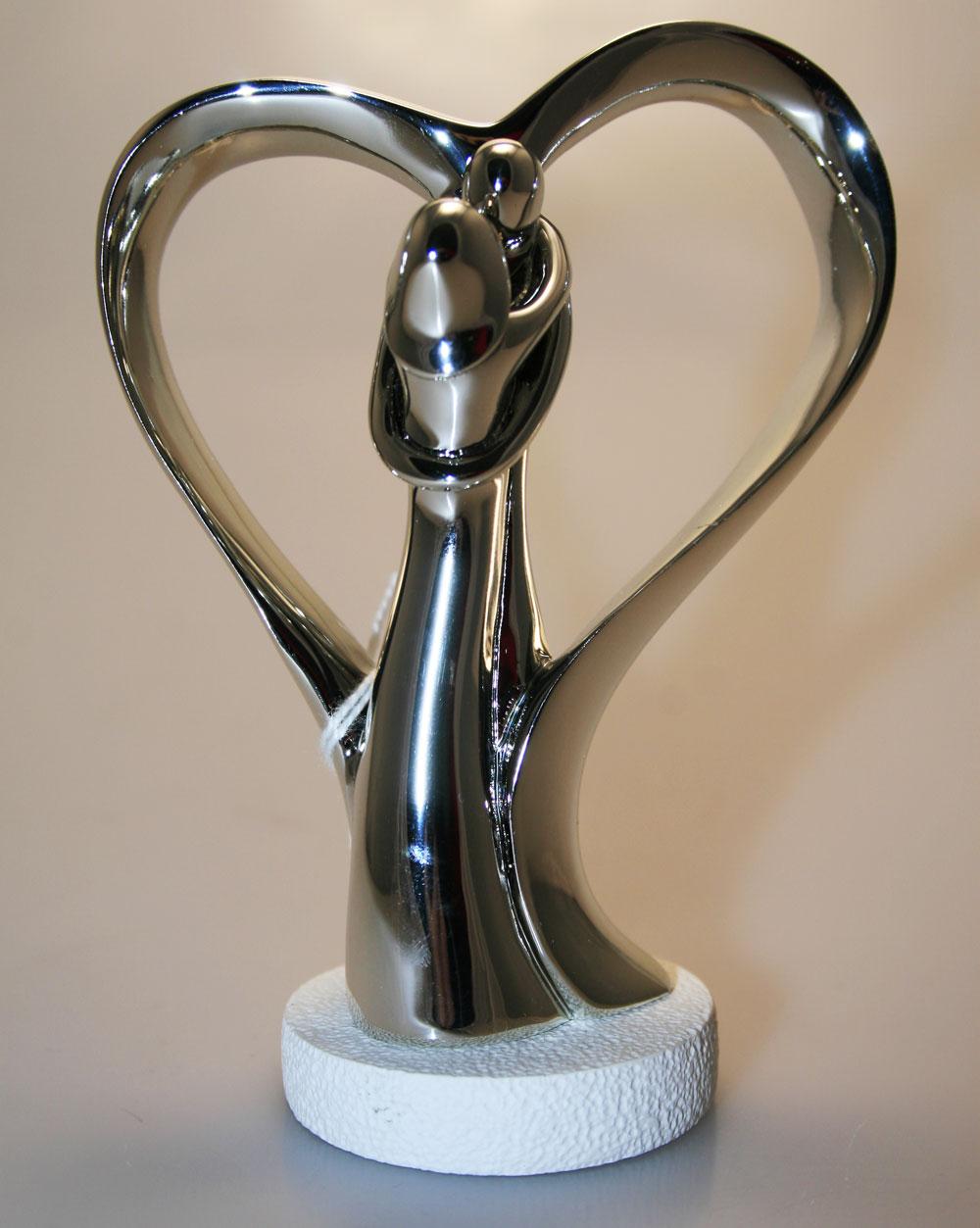 spesso Bomboniera coppia Sposi stilizzati con cuore - Di Cristofalo  JP16