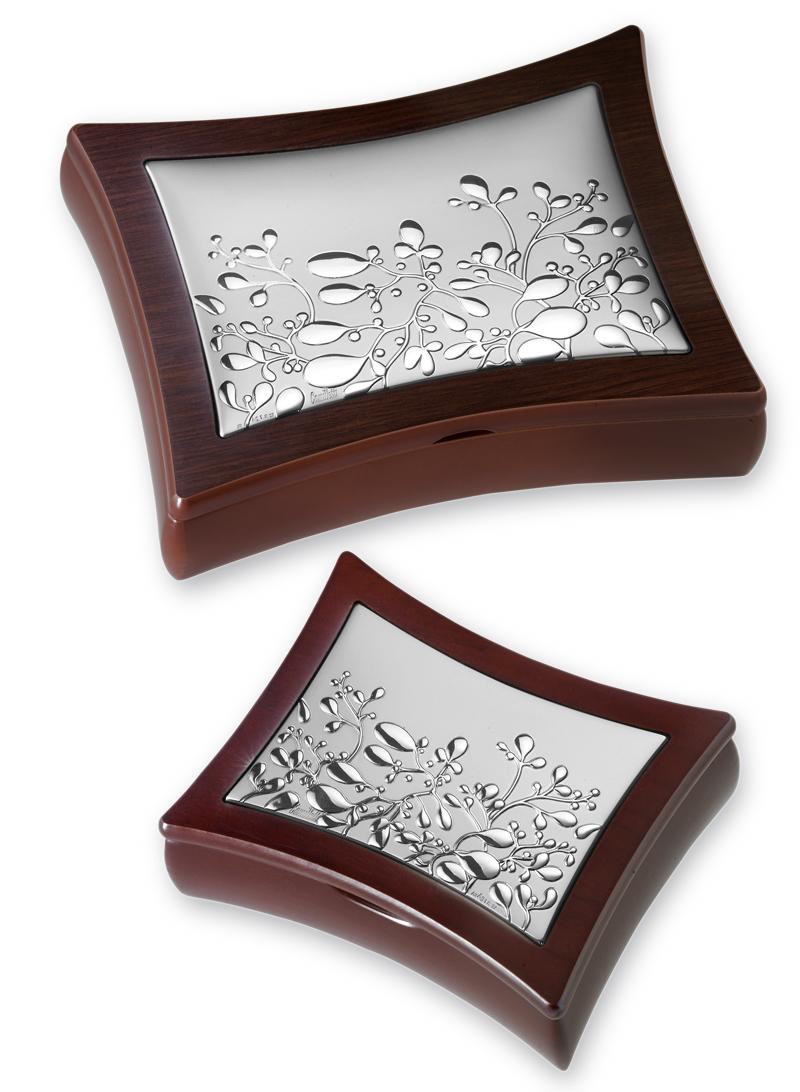 Portagioie in legno massello e argento di cristofalo - Portagioie argento ...