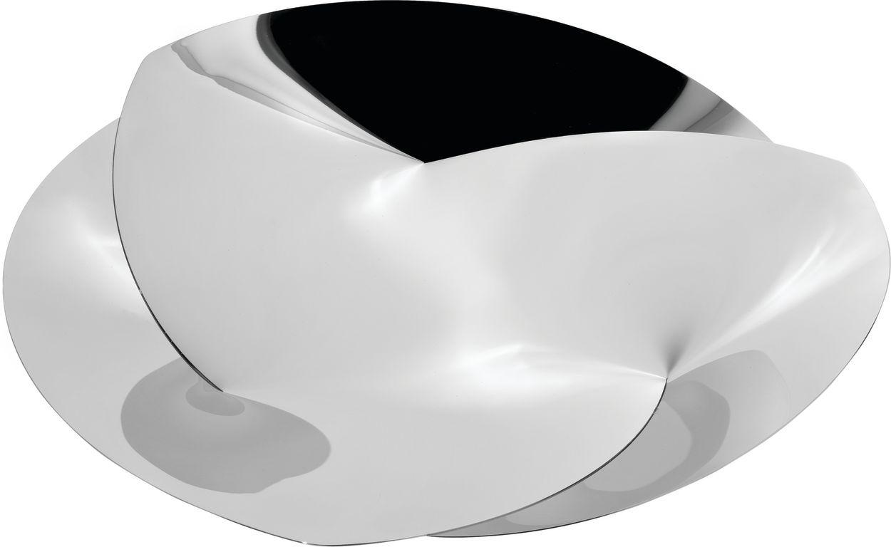 Fruttiera centro tavola in acciaio alessi di - Centrotavola argento moderno ...