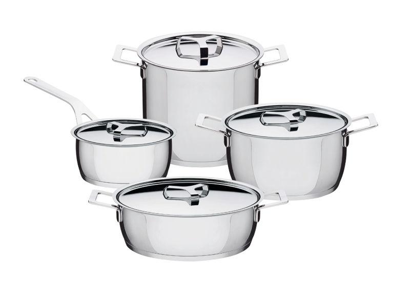 batteria da cucina 7 pz pots & pans alessi - di cristofalo ... - Batterie Da Cucina