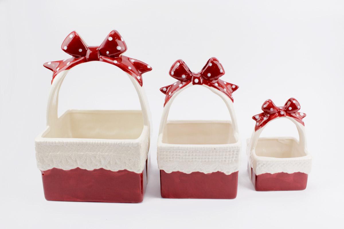Bomboniere Matrimonio Natalizio : Cestino natalizio in porcellana di cristofalo bomboniere