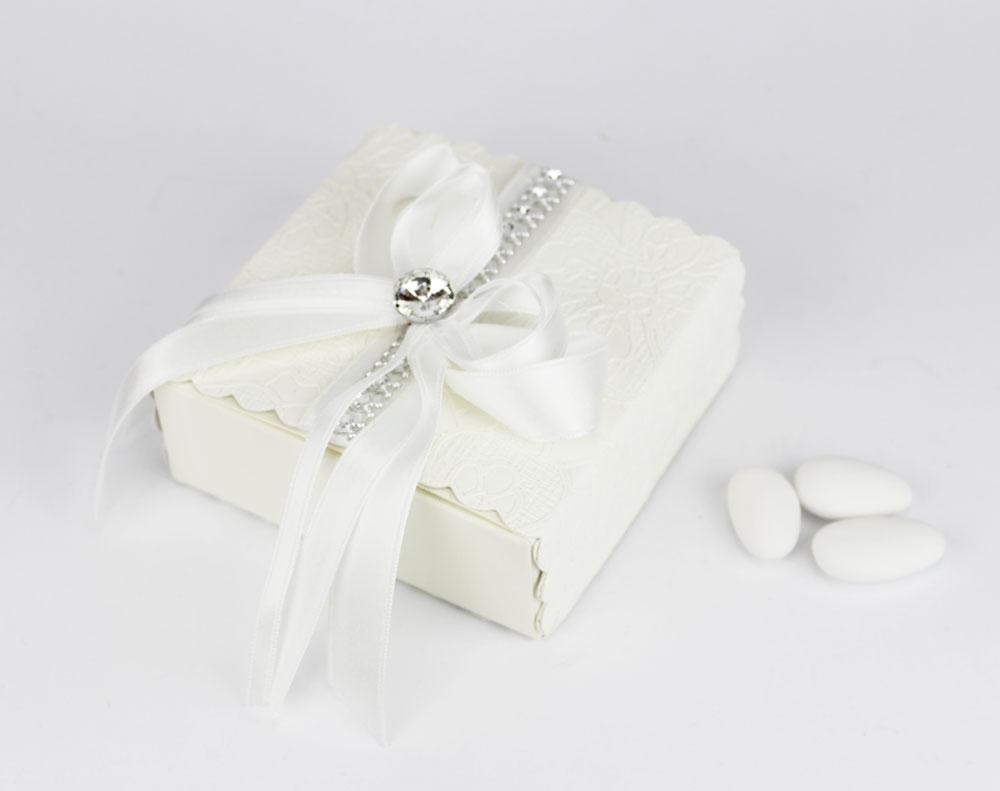 Scatola porta confetti con strass bomboniere matrimonio - Cesti porta bomboniere matrimonio ...