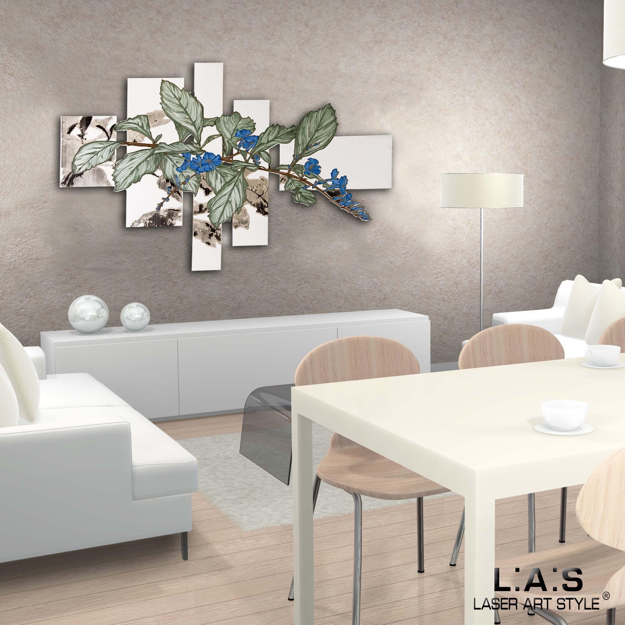 Quadro con fiori di design moderno Laser Art Style Di Cristofalo