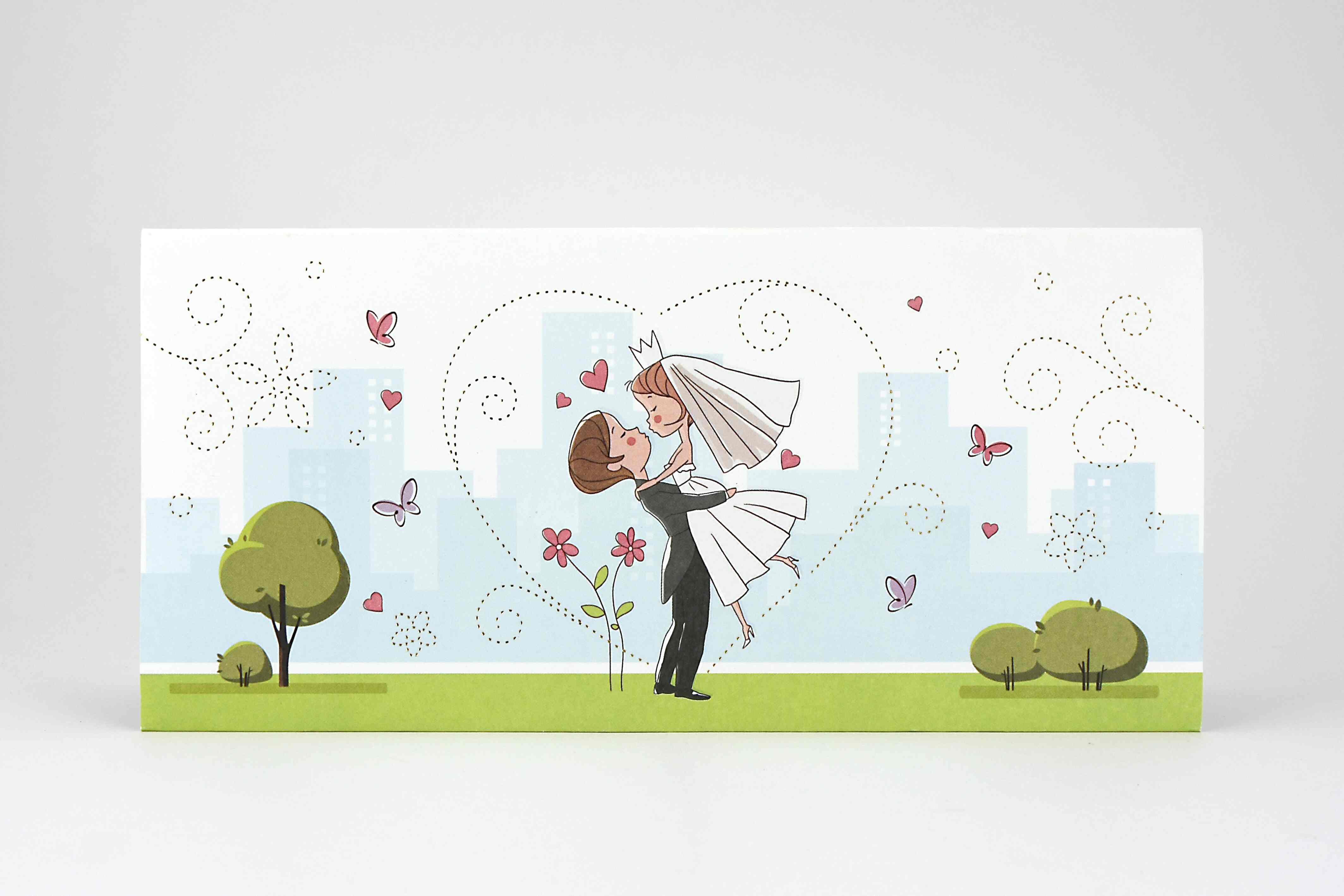 Partecipazioni Matrimonio Tridimensionali.Partecipazione Sposi Fumetto 3d