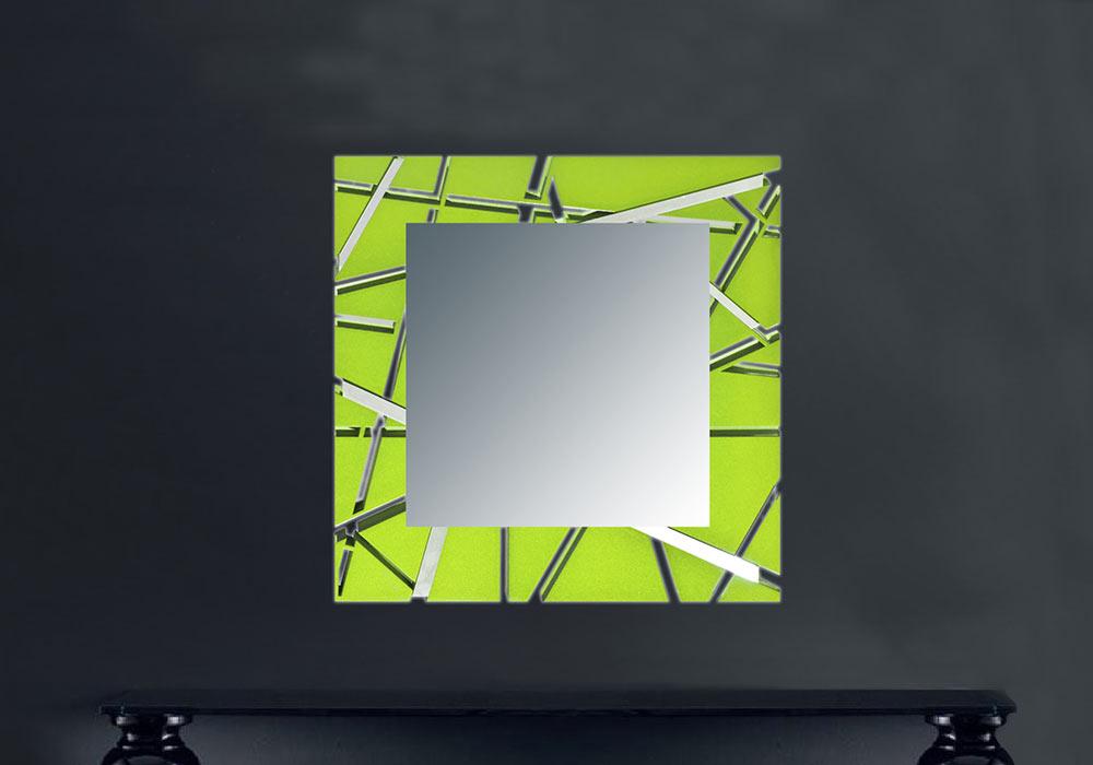 Specchiera dal design geometrico - Tappeti moderni verde acido ...