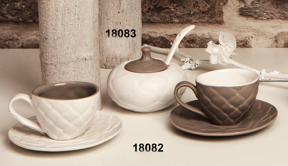 Coppia tazzine da caff decoro petali di cristofalo for Tazzine caffe moderne