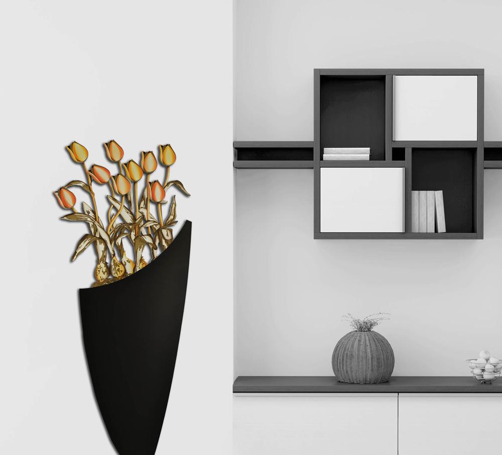 Quadro da bassa parete dal design moderno vaso con fiori for Vasi arredamento moderno