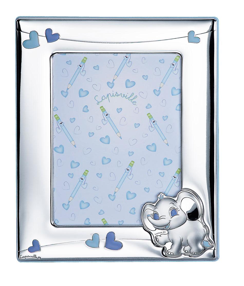 Portafoto 13x18 con elefante e cuoricini in azzurro di - Portafoto 13x18 ...