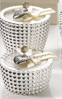 Porta candela quadri in resina e argento bomboniera for Quadri in argento
