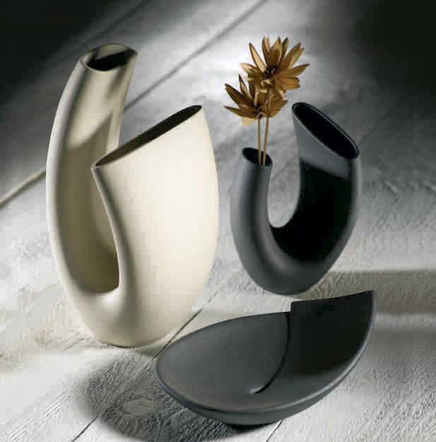Vaso moderno in gres porcellanato linea sette di for Oggettistica design moderno