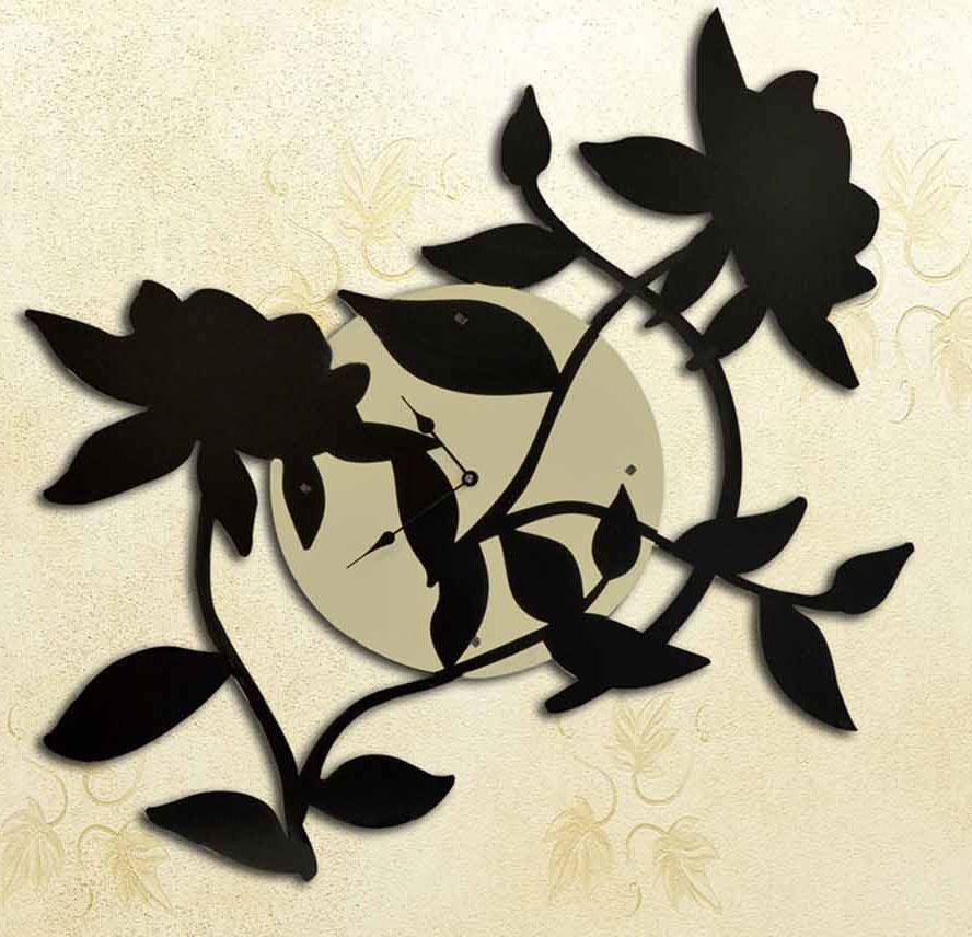 orologio da parete dal design moderno laser art style
