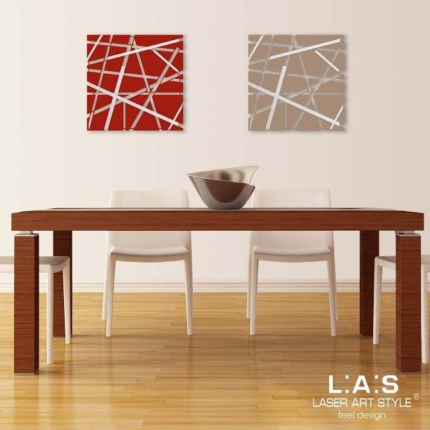 Quadro moderno con taglio laser tema astratto in legno for Oggettistica design moderno