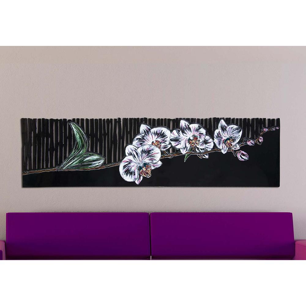 Quadri moderni con fiore intagliato laser art style