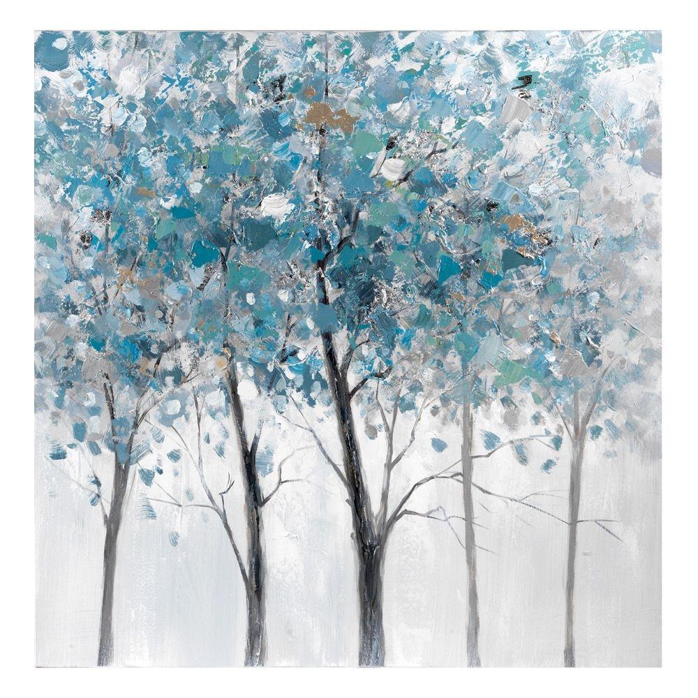 Dipinto albero blu e grigio - L\'Oca Nera