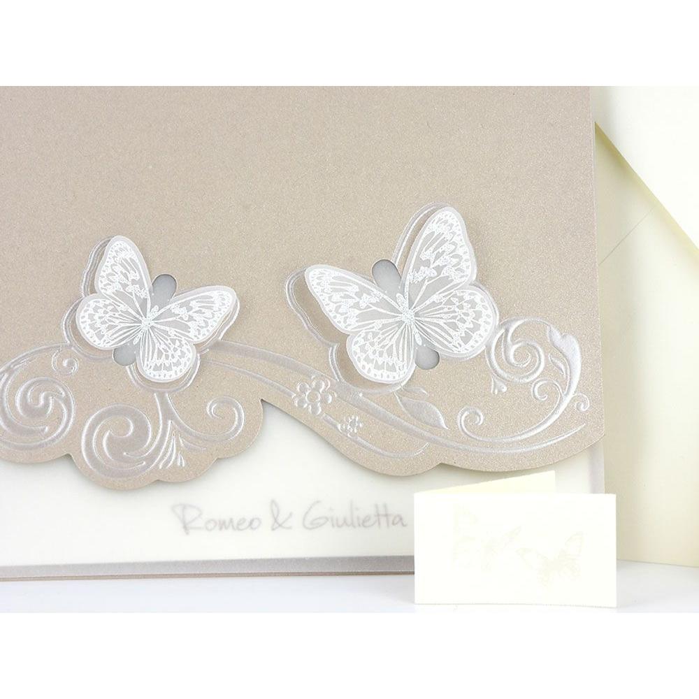 Partecipazioni Matrimonio Farfalle.Partecipazione Di Matrimonio Farfalle