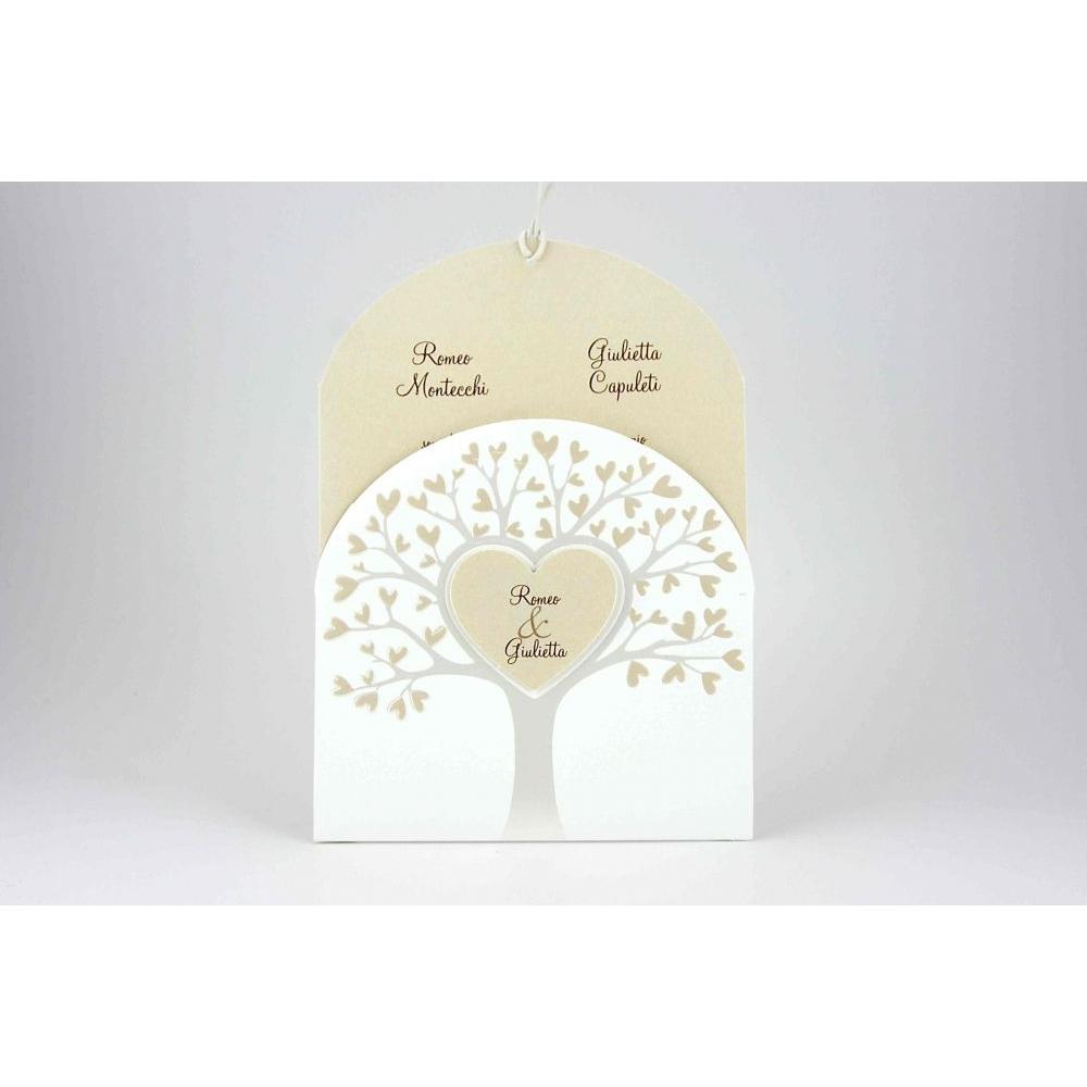 Partecipazioni Matrimonio Albero Della Vita.Partecipazione Con Albero Della Vita