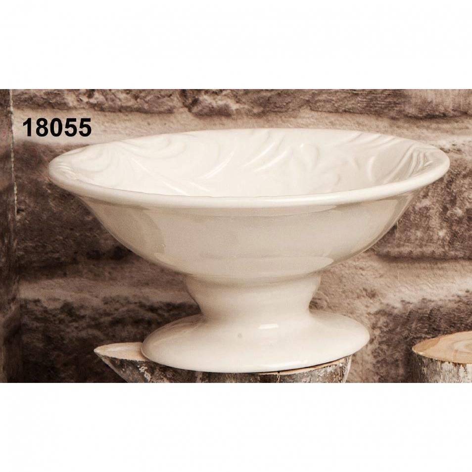 Alzatina in ceramica bianca
