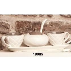 Set 2 tazze caffè con zuccheriera e vassoio