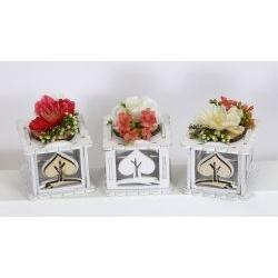 Portaconfetti giardino scatola fiori