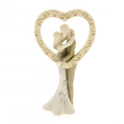Statuetta Sposi bacio con cuore