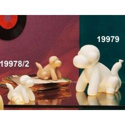 Scultura Scimmietta palloncino in porcellana