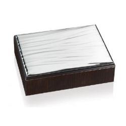 Scatola linea Gerogette con placca in metallo argentato - Atelier
