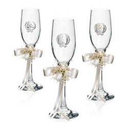 Coppia Bicchieri linea Flute Anniversario 25esimo - Atelier