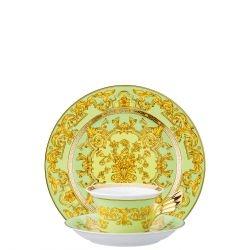 Piatto + Tazza Tè GREEN FLORALIA Rosenthal Versace 25 ANNI