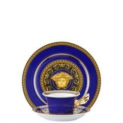Piatto + Tazza Tè MEDUSA BLUE Rosenthal Versace 25 ANNI