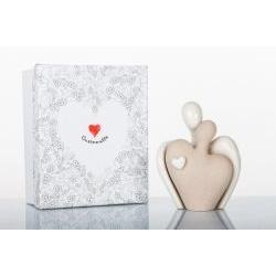 Statua coppia innamorati in porcellana - BOMBONIERE SOLIDALI