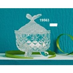 Zuccheriera - contenitore in vetro coperchio farfalla