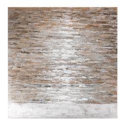 Dipinto astratto color sabbia - L'Oca Nera