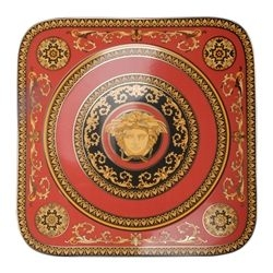 Piatto quadro MEDUSA ROSSA cm.33 Rosenthal Versace