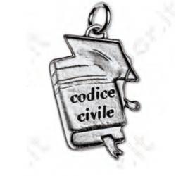 Bomboniera Ciondolo codice civile - Laurea in Giurisprudenza