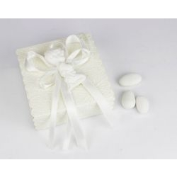 Scatola porta confetti con bimbo bianco - bomboniera per Nascita bimbo o Battesimo