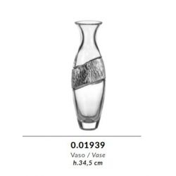 Vaso in cristallo GRIFFE e argento puro - Argenesi