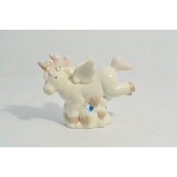 Lampada led Unicorno Rosa in porcellana