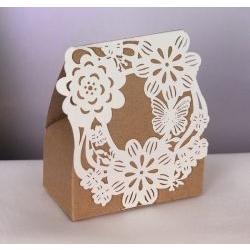 Bustina portaconfetti cartone con fiori