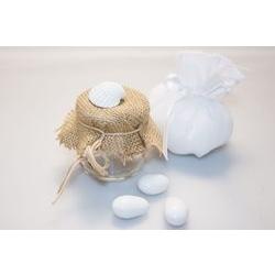Bomboniera - Barattolo in vetro con gessetto a conchiglia