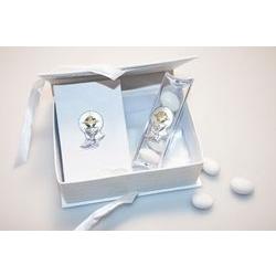 Bomboniera - Set vangelo e tubo portaconfetti con calice