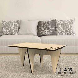 Tavolino in MDF con taglio laser