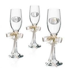 Coppia Bicchieri linea Flute Matrimonio - Atelier