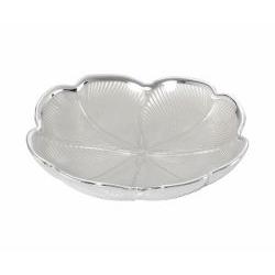 Piattino QUADRIFOGLIO in argento e vetro nozze - Argenesi