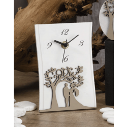 Orologio Albero della vita e sposi Nala