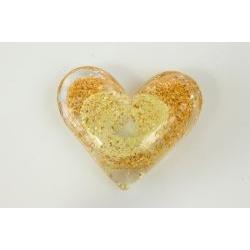 Cuore D'Amore in vetro luminescente - BOMBONIERE SOLIDALI