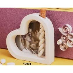Cuore portafoto e diffusore con provetta fragranza
