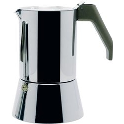 Caffettiera per 6 espresso in acciaio Alessi