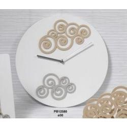 Orologio con decori in legno - Mandorle
